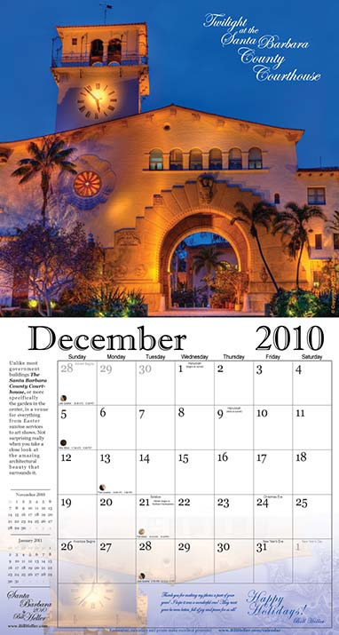 Twilight at the Santa Barbara County Courthouse - December 2010